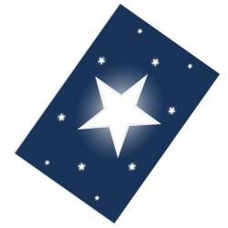 Beyaz Yıldız Lacivert Zemin Çocuk  Halısı-CE69