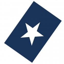 Beyaz Yıldız Lacivert Sade Zemin Çocuk  Halısı-CE71