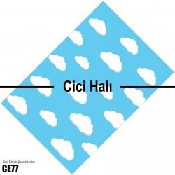 Bulutlu Açık Mavi Çocuk Halısı-CE77