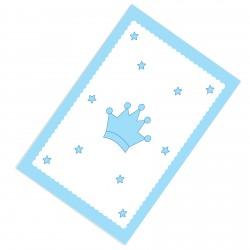 Taç ve Yıldızlar Kenar Şeritli Erkek Çocuk  Halısı-CE90