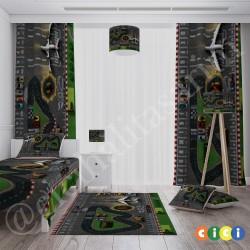 Çocuk Oyun Halısı Hotwheels ve Need For Speed Temalı  Halısı-CE100