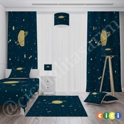 Kayan yıldızlar ve Satürn Erkek Çocuk  Kırlent-KIR196