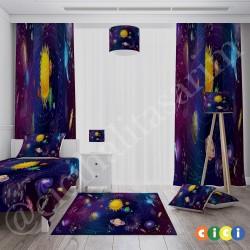 Galaksi Güneş ve Gezegenler Erkek Çocuk  Kırlent-KIR232