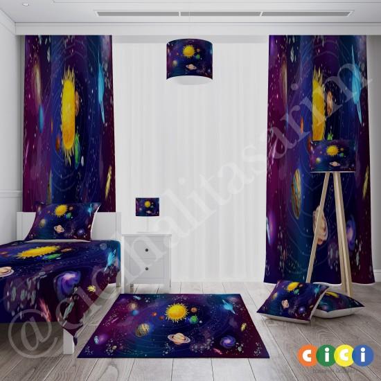 Galaksi Güneş ve Gezegenler Erkek Çocuk  Fon Perdesi-CFP232