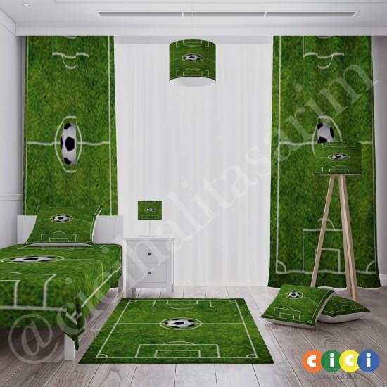 Halı Saha ve Futbol Topu Erkek Çocuk Fon Perdesi-CFP35