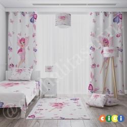 Çiçekler ve Peri Kızı Kız Çocuk Odası Kırlent-KIR541