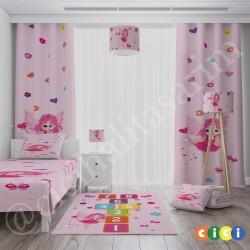 Sek Sek Peri ve Çiçekler Kız Çocuk  Kırlent-KIR577