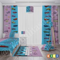 Sek Sek Çift Taraflı Tasarım Çocuk  Yatak Örtüsü-CYO587