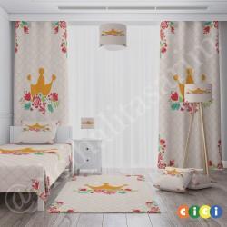 Baklava Zemin Çiçek ve Taç Kız Çocuk  Avize-CA673