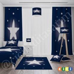 Beyaz Yıldız Lacivert Zemin Çocuk  Avize-CA69