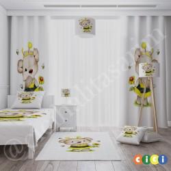 Arı Kostüm Minik Ayı Kız Çocuk  Fon Perdesi-CFP691