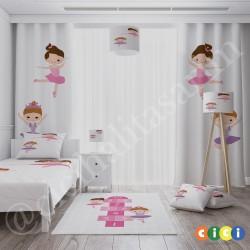Balerin Kızlar ve Seksek Kız Çocuk Odası Halısı-CK712