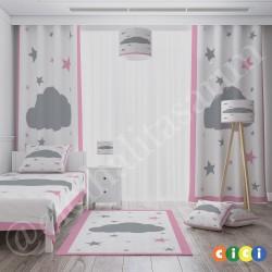 Bulut ve Yıldızlar Kız Çocuk Odası Kırlent-KIR719