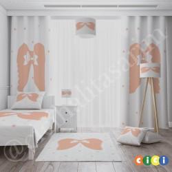 Kurdela ve Melek Kanadı Kız Çocuk Odası Kırlent-KIR733