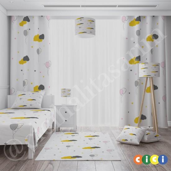 Bulutlar ve Balonlar Kız Çocuk Odası Kırlent-KIR743