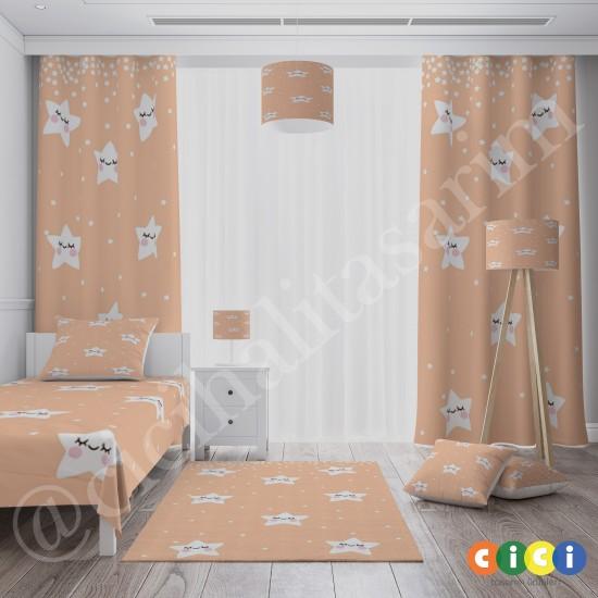 Sevimli Yıldızlar Kız Çocuk Odası Halısı-CK757