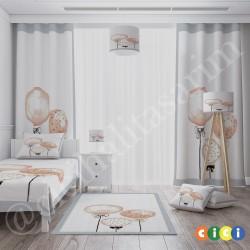 Sulu Boya Efektli Balonlar  Kız Çocuk Odası Kırlent-KIR765