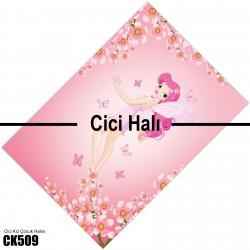 Çiçek ve Prenses Kız Çocuk Odası Halısı-CK509