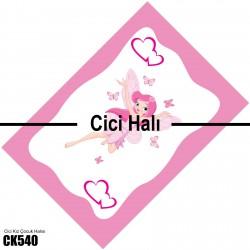 Kenar Çerçeveli Prenses Kız Çocuk Odası Halısı-CK540