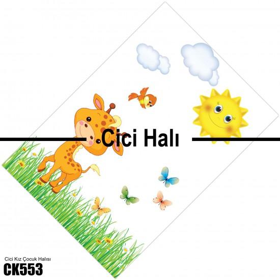 Sevimli Zürafa Çocuk Odası Halısı-CK553