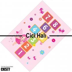 Sek Sek Peri ve Çiçekler Kız Çocuk  Halısı-CK577
