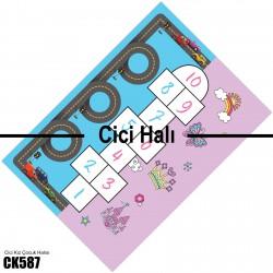 Sek Sek Çift Taraflı Tasarım Çocuk  Halısı-CK587