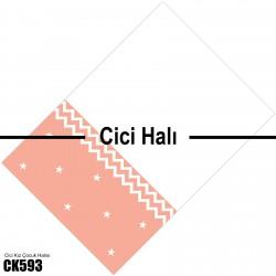 Beyaz Zigzag İki Renk Kız Çocuk  Halısı-CK593