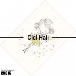 Balerin Figür Çizgi Karekter Kız Çocuk  Halısı-CK616