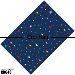 Renkli Yıldızlar ve Koyu Zemin Kız Çocuk  Halısı-CK643
