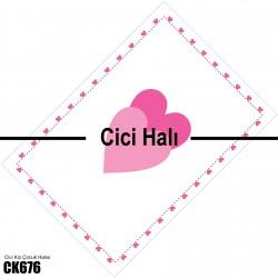 Kalp Çerçeve Çift Kalp Desen Kız Çocuk  Halısı-CK676