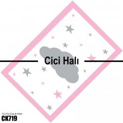 Bulut ve Yıldızlar Kız Çocuk Odası Halısı-CK719