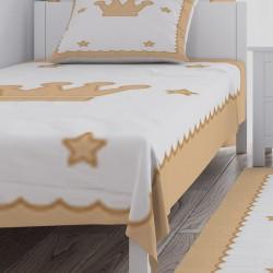 Altı Yıldız ve Taç Erkek Çocuk  Yatak Örtüsü-CYO115