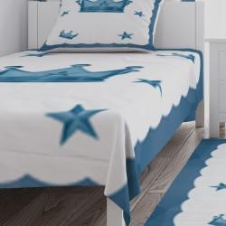 Taç ve Yıldızlar Erkek Çocuk  Yatak Örtüsü-CYO175