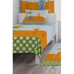 Ağaç Fil Zürafa ve Kelebek Erkek Çocuk  Yatak Örtüsü-CYO230