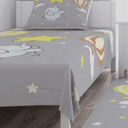 Ay ve Mavi Bulutlar Erkek Çocuk Odası Yatak Örtüsü-CYO297