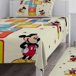 Mickey Mouse Seksek Erkek Çocuk Odası Yatak Örtüsü-CYO313