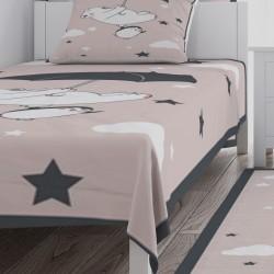Ayı, Penguen ve Şemsiye Erkek Çocuk Odası  Yatak Örtüsü-CYO325