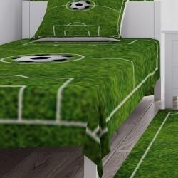 Halı Saha ve Futbol Topu Erkek Çocuk Yatak Örtüsü-CYO35
