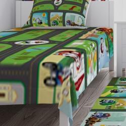 Sevimli Arabalar ve Yol Erkek Çocuk Odası Yatak Örtüsü-CYO53