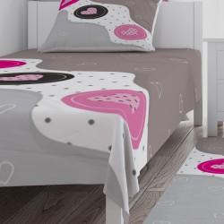 Kalpler Temalı Kız Çocuk Odası Yatak Örtüsü-CYO538