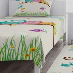 Baykuş Ailesi Çocuk Odası  Yatak Örtüsü-CYO559