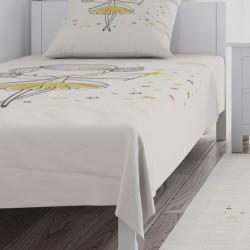 Balerin Figür Çizgi Karekter Kız Çocuk  Yatak Örtüsü-CYO616