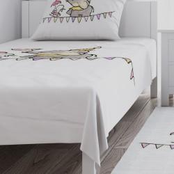 Cambaz Fil ve Tavşan Kız Çocuk  Yatak Örtüsü-CYO698