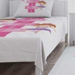 Balerin Kızlar ve Seksek Kız Çocuk Odası Yatak Örtüsü-CYO712