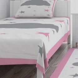 Bulut ve Yıldızlar Kız Çocuk Odası Yatak Örtüsü-CYO719