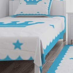 Mavi Kral Taclı Çocuk  Yatak Örtüsü-CYO73