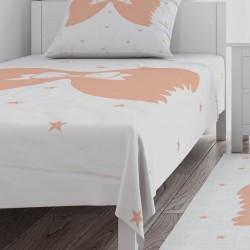Kurdela ve Melek Kanadı Kız Çocuk Odası Yatak Örtüsü-CYO733