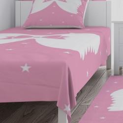 Melek Kanadı ve Yıldızlar Kız Çocuk Odası Yatak Örtüsü-CYO734