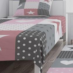 Patchwork Temalı Kız Çocuk Odası Yatak Örtüsü-CYO736