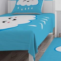 Mavi Bulutlu Bebek  Yatak Örtüsü-CYO78
